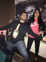 couples funny halloween costume ideas couple halloween costume hennessy and coke favorites pinterest