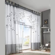 Grey And Purple Curtains 2016 Tulle Green Grey Purple Blackout Embroidery Curtains For