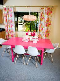 photos hgtv pink dining table with floral curtains loversiq
