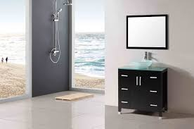 bathroom vanity countertop ideas large frameless glass wall mirror