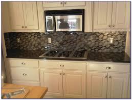 White Glass Tile Backsplash Kitchen by White Glass Metal Backsplash Tile Luna Pearl Granite Home