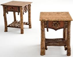 adirondack end table rustic side table cabin furniture
