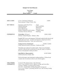Sample Lab Technician Resume by Veterinary Technician Resume Haadyaooverbayresort Com