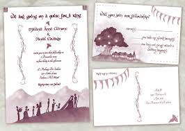 lord of the rings wedding invitations and more from awkward