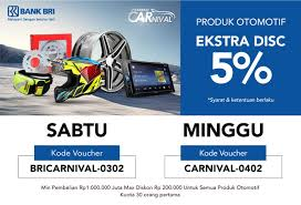 blibli weekend bri weekend carnival produk otomotif ekstra diskon 5 blibli