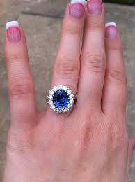 light blue sapphire ring oval blue sapphire ring diana replica let s talk jewelry