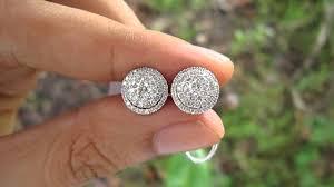 detachable earrings 3 carat illusion detachable earrings hkg setting