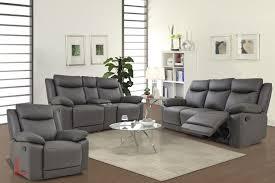 Leather Reclining Sofa Loveseat Volo Espresso Leather Reclining Sofa Loveseat With Console And
