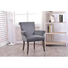 linon home decor calla charcoal microfiber arm chair 36261char01u