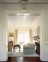 stained wood panels coffered ceiling living room traditional with wood panels dark