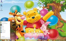 free windows 7 themes download winnie pooh birthday