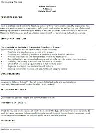 swim instructor resume templates franklinfire co