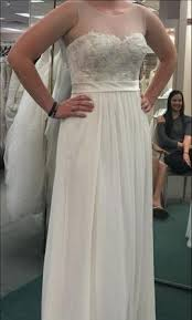 chiffon wedding dress david s bridal illusion tank chiffon wedding dress with lace 400