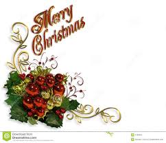 merry christmas border baubles greeting card stock image image