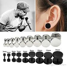 s mens earrings 2018 earrings men s barbel stud earrings fashion brand