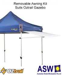 Oztrail Awning Review 2 4m X 1m Oztrail Removable Awning Kit Deluxe Gazebo White