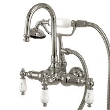 kitchen faucets brass silver kingston brass kitchen faucets wide spread two handle pull