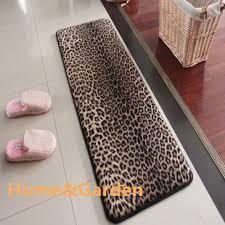 Leopard Bathroom Rugs Big House Memory Foam Bath Mats Slip Resistant Water Absorbing