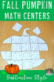 november math thanksgiving math activities subtraction pumpkin