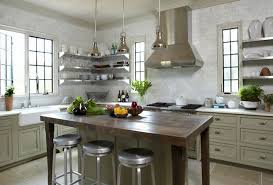 Rustic Kitchen Storage - kitchens kitchen decorating idea with rustic kitchen island and
