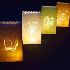 halloween luminaries to make halloween haunted luminary bags diy