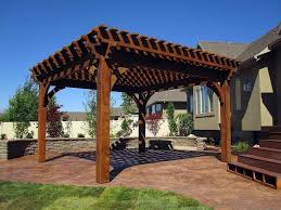 Outdoor Pergola Kits by Exterior Simple Wooden Pergola And Gazebo Design Attached To