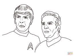 spock from star trek into darkness coloring page free printable