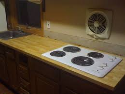 modern white electric with range top stove kitchen design hood