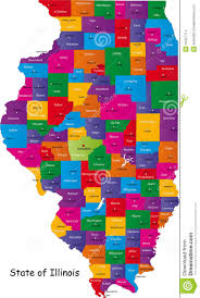 County Map Illinois by Illinois Map Stock Images Image 10427714