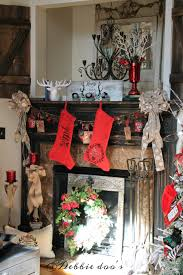 decorating with red white and black for christmas debbiedoos