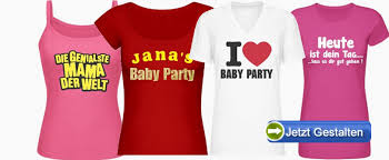 shirt selbst designen eigene babyparty t shirts selber gestalten ab 1 stück