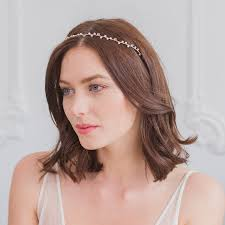 hair crystals wedding hair vine with pearls and crystals by britten weddings