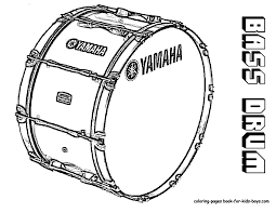 bass drum coloring page drums pinterest bass drum