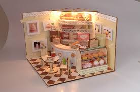 cake shop doll house plan toy model building diy house bm 523