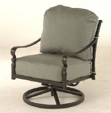 Patio Furniture Swivel Chairs Berkshire By Hanamint Luxury Cast Aluminum Patio Furniture Swivel