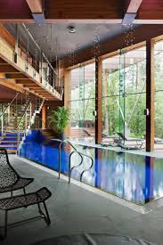 interior fabulous interior glass wall for homes with blue wall