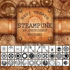 Chandelier Photoshop Brushes 20 Off Steampunk Photoshop Brush Set 30 Brushes Abr