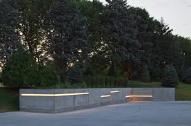 landscape lighting ideas exterior contemporary with lights under