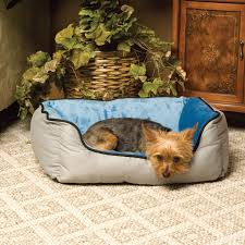 Self Warming Pet Bed K U0026h Pet Products Self Warming Two Tone Lounge Sleeper Pet Bed