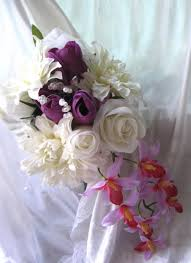 wedding flowers orchids cascading bridal bouquet wedding flowers orchids dahlias