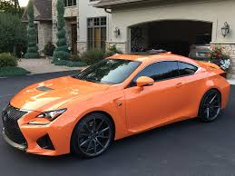 new lexus rcf for sale mn 2015 lexus rc f rwd 467hp orange rocket mint shape as new