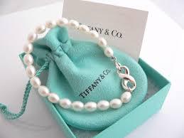 tiffany bracelet pearl images Tiffany co silver infinity figure 8 pearl bracelet bangle 7 9 in jpg