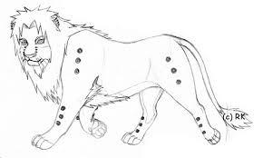 pein lion sketch by russiankunoichi fc on deviantart