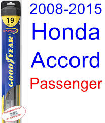 wiper blades for 2000 honda accord amazon com 2008 2015 honda accord wiper blade driver goodyear
