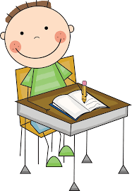 Kids Work Desk by Child Writing At Desk Clipart Clipartxtras