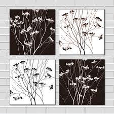 modern wall prints aliexpress buy 4 black white tree