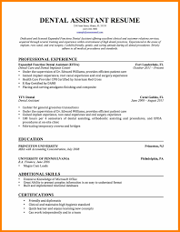 dental assistant resume examples resume for your job application