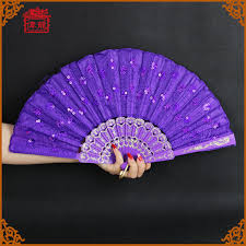 fans wholesale purple peacock lace folding fans fans wholesale