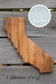 wooden california wall state shape handcrafted from repurposed oak flooring make