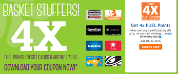 gift cards deals kroger 4x fuel points for 2 weeks discounted gift card deals